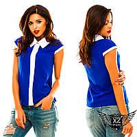 Блузочка безрукавка с полосочкой спереди, цвета электрик, розовая, малиновая, белая, все размеры другие цвета