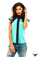 Блузочка безрукавка с полосочкой спереди, цвета мятная, голубая, красная, зеленая, тёмно-бежевая, все размеры