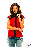 Блузочка безрукавка с полосочкой спереди, цвета бордовая, мятная, тёмно-синяя, белая, красная все размеры