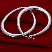 Серьги кольца ювелирная бижутерия посеребрение 1564