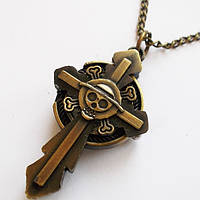 """Кармнные часы с подвеской """"Крест с черепом""""."""
