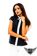 Блуза воротник рубашка крылышко, цвета красная, бежевая, персиковая, красная, белая все размеры, другие цвета