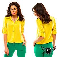 Блуза с рукавом до локтя, цвета желтая, черная, красная, фиолетовая, зеленая, синяя, все размеры, другие цвета