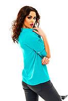 Блуза с рукавом до локтя, цвета бордовая, мятная, желтая, черная, красная все размеры, другие цвета