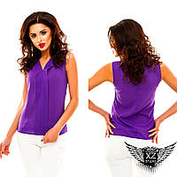 Легкая блузка без рукава, цвета фиолетовая, синяя, белая, красная, мятная, бежевая, зеленая, другие цвета