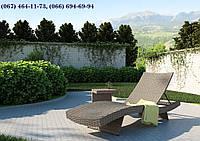 Шезлонг МАРА Песок, Лежак, мебель для бассейна, мебель для сада, мебель для санатория, для сауны