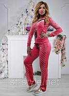 Гламурный женский спортивный велюровый костюм раз 42, 44,46,48, 2 цвета, фото 1