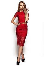 """Элегантная юбка-карандаш с высокой талией из красивого гипюра Виола мврсала """"KR"""""""