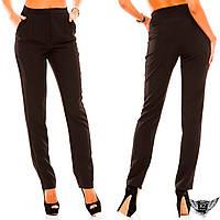 Женские брюки  завышенная талия в облегающие, черные, тёмно-синие, красные, тёмно-зеленые, бордовые ...