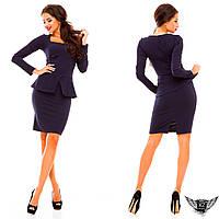 Платье, креп-дайвинг, цвета горчичное, черное, красное, тёмно-синее, электрик, все размеры