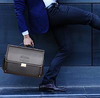 Мужская кожаная сумка. Модель 2239, фото 4