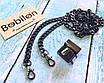 Цепочка для сумки, черное серебро, размер 2х14х8мм, фото 3