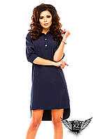 Платье-рубашка, выше колена, цвета тёмно-синее, тёмно-зеленое, красное, синее, все размеры и другие цвета