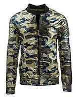 Модная мужская демисезонная куртка в стиле милитари камуфляж яркий M