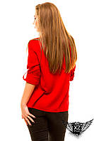 Женская рубашка с коротким рукавом, большого размера, цвета красная, зеленая, голубая другие цвета