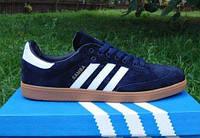 Кроссовки Adidas SAMBA Blue & White (Реплика ААА+)