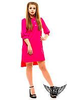 Платье-рубашка до колен и короткий рукав большого размера, цвета бутылка, малиновая, красная, другие цвета