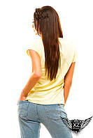 """Женская футболка с рисунком """"Девушка"""", цвета белая, мята, желтая, черная, пудра, все размеры"""