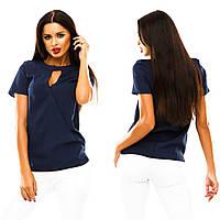 Блуза спереди переплет,(7 цветов)ткань креп шифон,короткий рукав