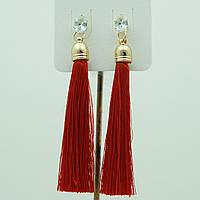 Красные сережки, серьги кисти красного цвета 2213