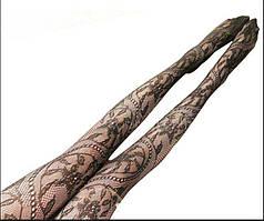 Колготки сетка - ажурные 42-46 Черные