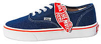 Кеды Vans AUTHENTIC Blue/Red Line ванс аутентик