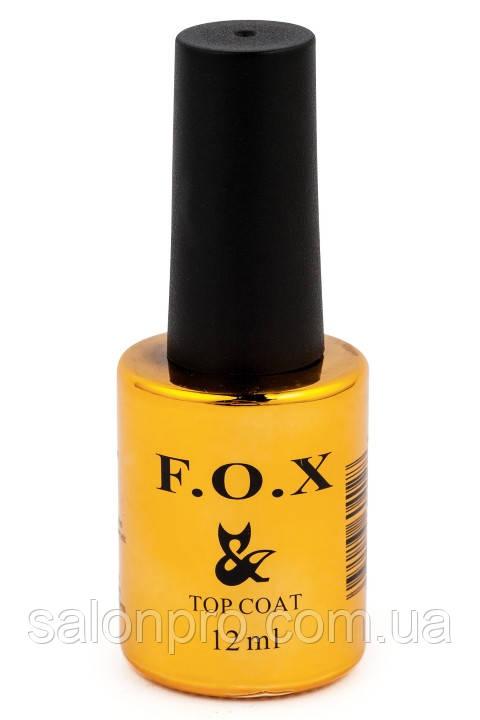FOX Top No-Wipe - топ, финишное покрытие без липкого слоя для гель-лака, 12 мл