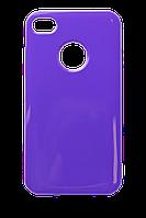 Чехол силиконовый HQ с заглушками для iPhone 4/4S фиолетовый