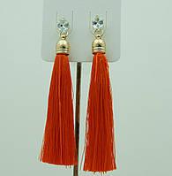 Оранжевые сережки, серьги кисти оранжевого цвета 2214