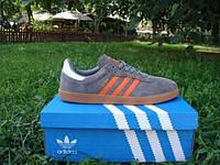 Кроссовки Adidas Samba Gray&Orange