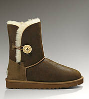 Натуральные угги UGG Australia (Угги Оригинал) Bailey Button Bomber Chocolate. Model: 5803