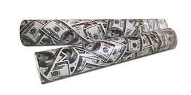 """Хлопушка пневматическая """"Доллары"""". Размер: 30см. Начинка: Доллары."""