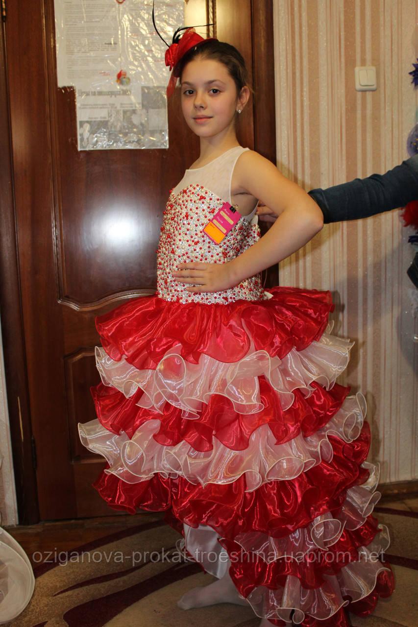 f9dfa2b8cc4 Детское нарядное платье Джуди красное - прокат