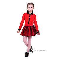 Красная юбка для девочки Ballet Timbo U029023 р.122 красный