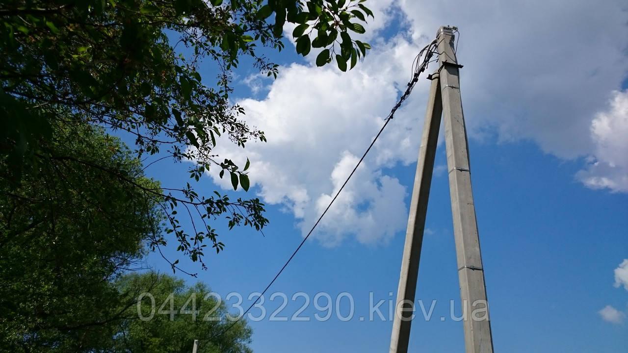 Установка, монтаж, перенос электрических столбов