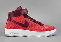 Женские кроссовки Nike Air Force 1 Ultra Flyknit Red (аир форсы, эир форсы)