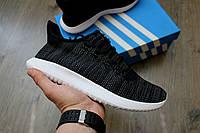 Кроссовки Adidas Tubular Shadow Black/White. Живое фото!  (Реплика ААА+)
