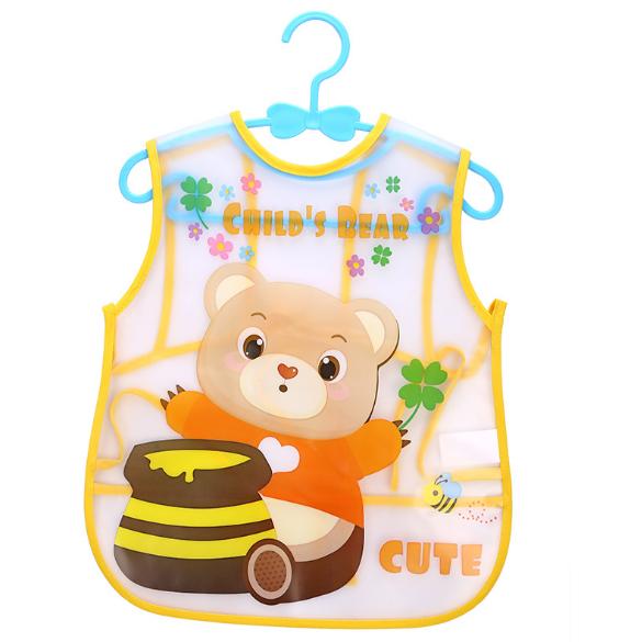 Слюнявчик Мишка с мёдом (02116)