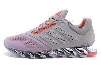 Женские кроссовки  Adidas Springblade 2 Drive Grey Pink (Реплика ААА+)