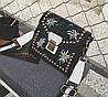Новинка! Модная женская сумка с вышивкой BALLY Grimoire черного цвета