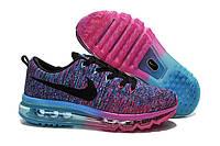 Женские кроссовки Nike Flyknit Air Max Court Purple Cool Blue Pink Black Cheap