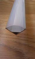 Алюминиевый профиль для светодиодной ленты угловой с рассеивателем LED-06