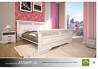 """Деревянная кровать """"Атлант-26"""""""