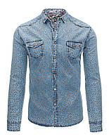Рубашка Мужская  джинсовая M