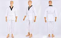 Добок кимоно для тэквандо WTF UR DR-5473 (хлопок 65%, полиэстер 35%, р-р 30-42 (110-164см),240г на м2)