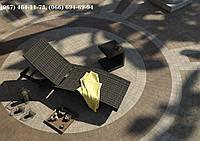 Шезлонг МАРА Роял Коричн, Лежак, мебель для бассейна, мебель для сада, мебель для санатория, мебель для сауны