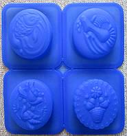 Силиконовая форма для мыла из 4-х 20х20см