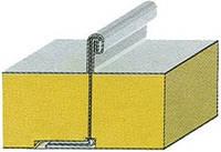 Сендвич ППУ 60 мм  металл 0,45 мм из оцинкованной стали с полиэстеровым покрытием