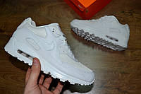 Жіночі кросівки Nike Air Max 90 White (унісекс) (Репліка ААА+), фото 1