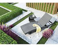 Шезлонг МАРА Роял Серый, Лежак, мебель для бассейна, мебель для сада, мебель для санатория, мебель для сауны